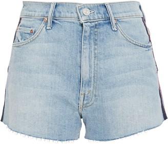 Mother Embroidered Denim Shorts