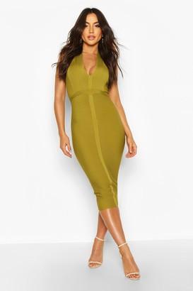 boohoo Boutique Bandage Plunge Midi Dress