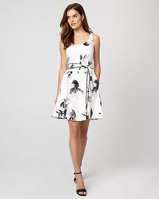 Le Château Floral Print Cotton Sateen Fit & Flare Dress