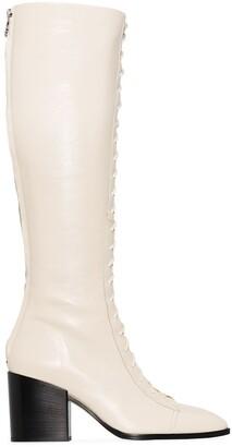 AEYDĒ Britta 75mm knee-high boots