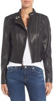 Rudsak Women's Crop Moto Leather Jacket