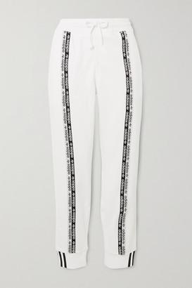 adidas Striped Cotton-jersey Track Pants - White