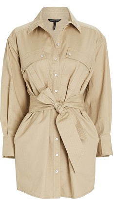 Marissa Webb Skylar Canvas Cargo Shirt Dress