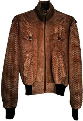 Jitrois Brown Python Jackets