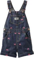 Osh Kosh Oshkosh Butterfly-Print Denim Shortalls - Baby Girls 3m-24m