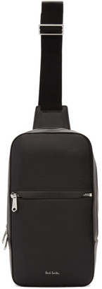 Paul Smith Black Embossed Leather Classic Sling Bag