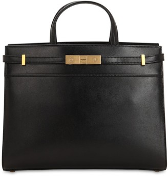Saint Laurent Small Manhattan Leather Top Handle Bag