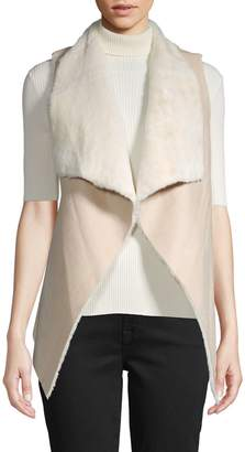 RENVY Reversible Faux Shearling and Faux Suede Vest