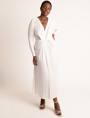 ELOQUII Twist Front Fit And Flare Dress