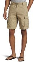 Izod Men's Saltwater Cargo Short,Cedarwood Khaki, 33W