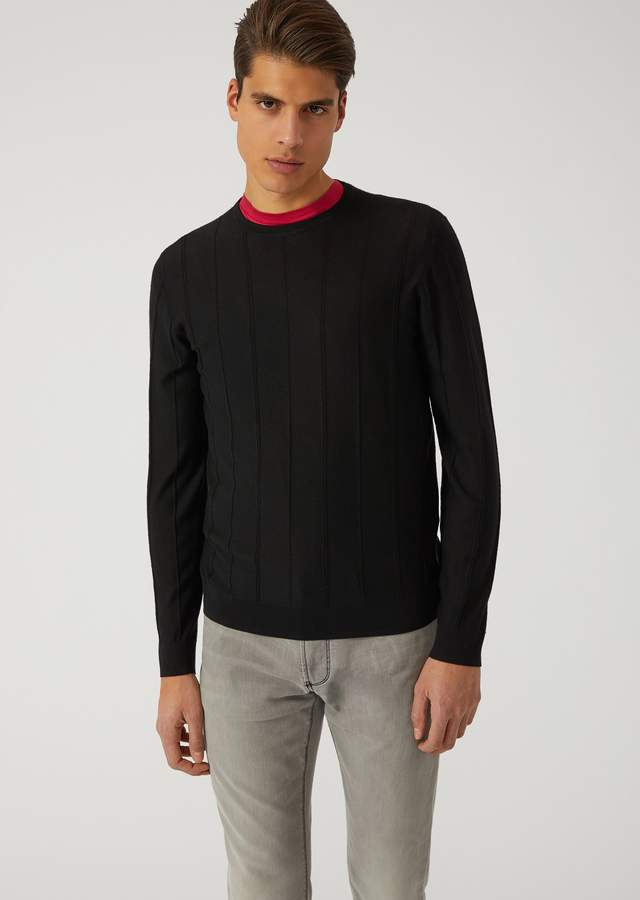 Emporio Armani Lightweight Virgin Wool Knit Sweater