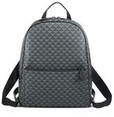 Giorgio Armani Medium Signature Logo Leather Backpack