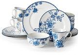222 Fifth Tracy Blue 16-Piece Dinnerware Set