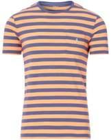 Ralph Lauren Custom Fit Striped T-Shirt May Orange/Observer Blue Xl