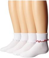 Jefferies Socks Seamless Ripple Edge 4-Pack (Toddler/Little Kid/Big Kid)