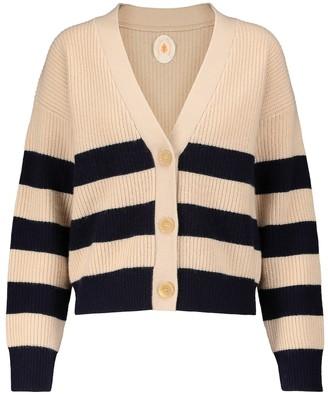 Jardin Des Orangers Striped wool and cashmere cardigan