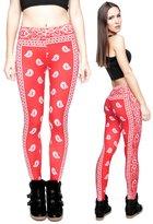 Guanli Zohra Women's 3D Digital Print Leggings Colorful Tight Yoga Fitness Pants
