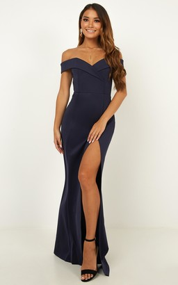 Showpo One For The Money dress in steel blue - 18 (XXXL) Dresses