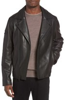 Black Rivet Men's Leather Moto Jacket