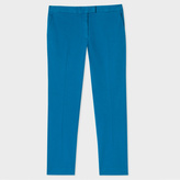Paul Smith Women's Slim-Fit Turquoise Stretch-Cotton Chinos