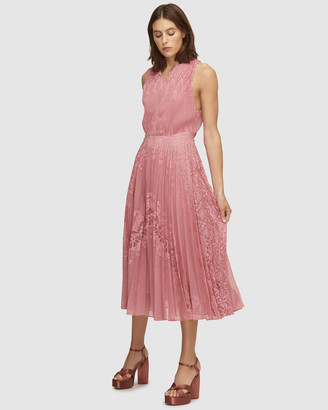 Lover Stargaze Pleat Midi Dress