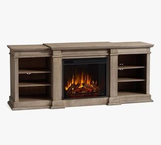 "Pottery Barn Lorraine 72"" Electric Fireplace Media Cabinet"