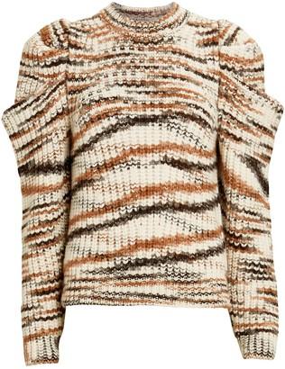 Ulla Johnson Daphne Marled Puff Sleeve Sweater