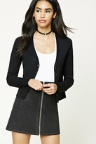 Forever 21 FOREVER 21+ Button-Front V-Neck Cardigan