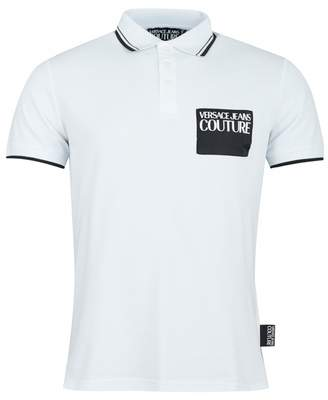 Versace Couture Tipped Slim Fit Polo Shirt Colour: WHITE