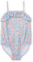 Ralph Lauren Floral-Print One-Piece Swimsuit, Size 9-24 Months