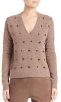 Max Mara Giudea Virgin Wool Embellished Sweater