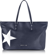 Armani Jeans Dark Navy Eco Leather Tote w/Star
