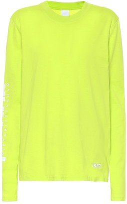 Reebok x Victoria Beckham Logo cotton-jersey T-shirt