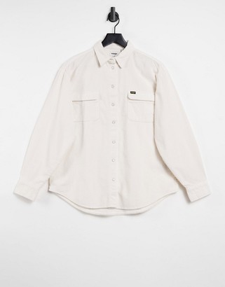Wrangler loose cord shirt in white