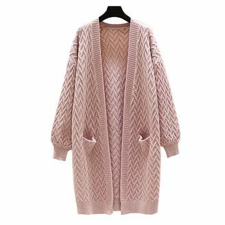 HanPaint Knitting Women's Sweater Lantern Long Sleeve Thick Korean Cardigans Loose Autumn Winter Fashion Lakegeen One Size