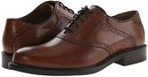 Johnston & Murphy Tabor Saddle Dress Oxford (Mahogany Calfskin) Men's Plain Toe Shoes
