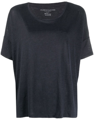 Majestic Linen Blend Loose-fit T-shirt