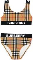 Burberry logo print bikini