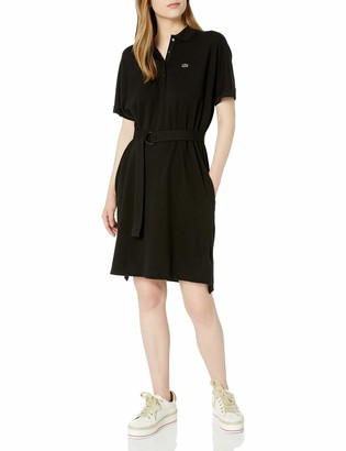 Lacoste Women's Short Sleeve Belted Pique Polo Dress