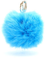 Furla Women's Bubble Keyring Pom Pom Blue