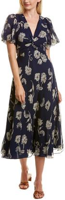 Diane von Furstenberg Leilah Silk Midi Dress