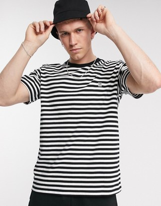 Obey 89 Icon striped t-shirt in black/white