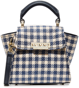 Zac Posen Eartha Gingham Staw Mini Top Handle Bag