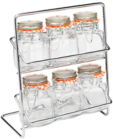 Hahn 6 Jar Spice Rack With Kilner Jars
