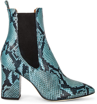 Paris Texas Python Print 80 Ankle Boot in Jeans | FWRD