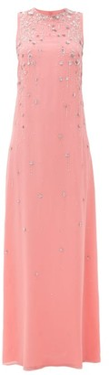 Givenchy Floral-sequinned Embroidered Silk-crepe Gown - Womens - Pink