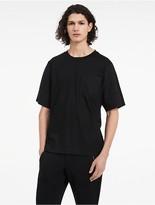 Calvin Klein Platinum Cotton Lyocell Poplin T-Shirt