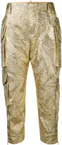 DSQUARED2 textured metallic trousers