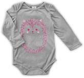 Urban Smalls Light Gray Cute Hedgehog Long-Sleeve Bodysuit - Infant