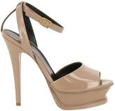 Saint Laurent Tribute 105 Peep Toe Platform Sandals